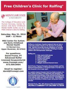 Children's Rolfing Clinic Flyer