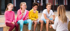 Tweens on a fence, Rolfing